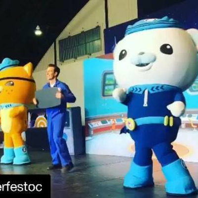 Over the holidays we got to dive into action with our favorite underwater heroes – the Octonauts - at Winterfest!  #Repost Winter Fest with @get_repost ・・・ Explore! Rescue! Protect! Happy new year from Winter Fest OC and the @octonautsofficial