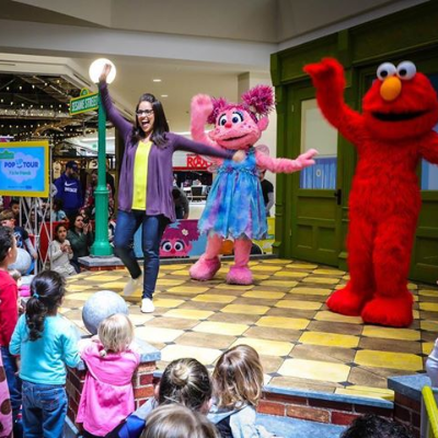 #TBT to two years ago when we launched the first Sesame Street Letter of the Day Pop Up Tour. Each year we visited 10 cities, put on 30+ shows, and met thousands of excited Sesame Street fans! @ Mall of America