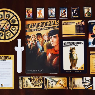 600+ Barnes & Noble stores around the country celebrated #DemigodDay this past Saturday. Event kits were created to highlight Rick Riordan titles - including a scavenger hunt, secret code postcard, and more!